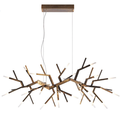 Italian Designer 'Branched' Hanging display chandelier