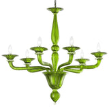 Minimal Murano Glass Chandelier in Multiple Colours