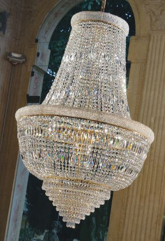 Italian 24% lead crystal Empire chandelier