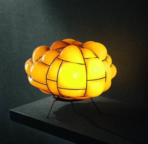 Pallucco Egg Blown Glass Table Light in Topaz
