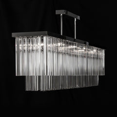 Modern Rectangular Prism Chandelier