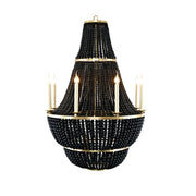 Black Lava Stone Georgian Chandelier