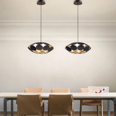 Customizable Metal Disc Ceiling Pendant