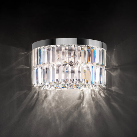 Beautiful Round Crystal Wall Light