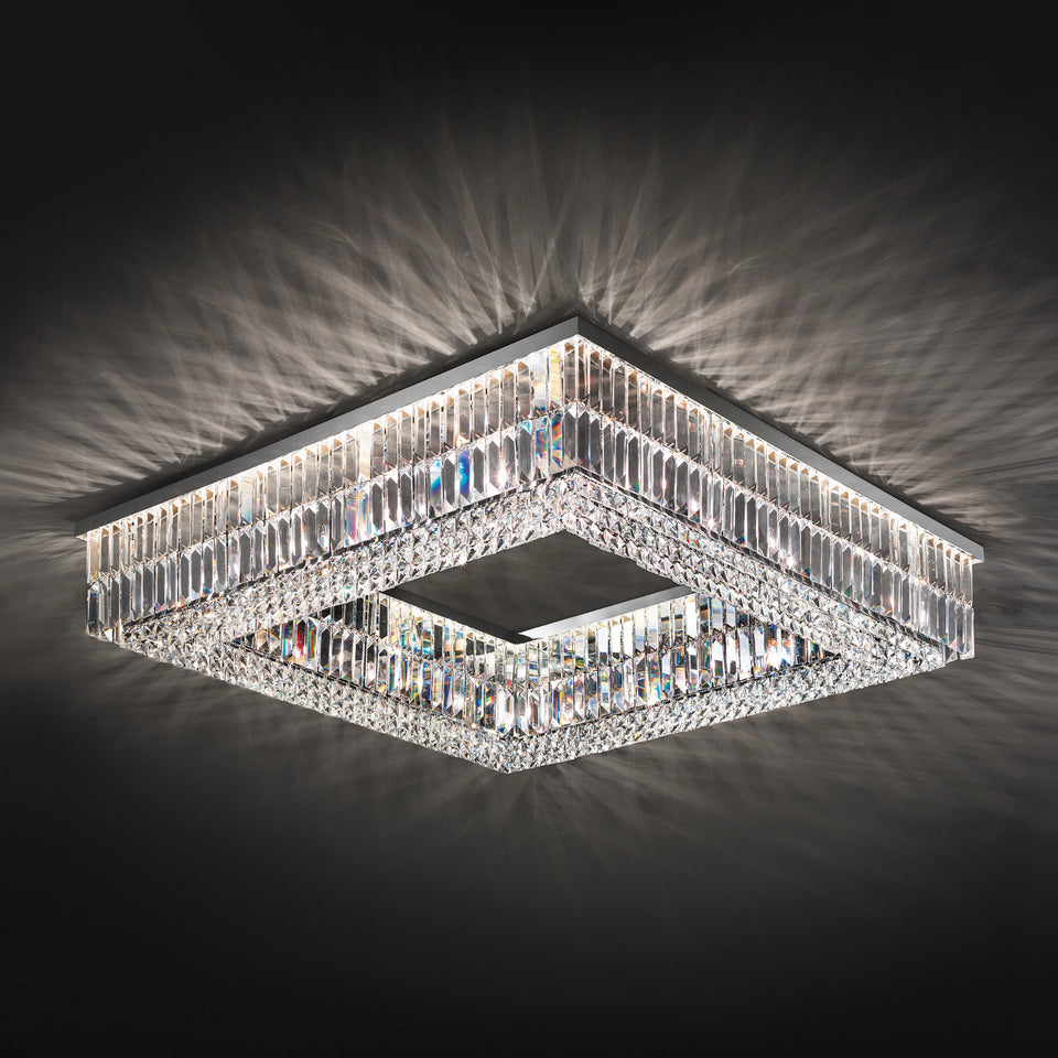 Italian Led Crystal Chandelier Square Chandelier Light