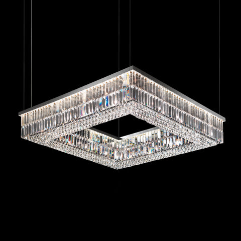 Beautiful Crystal Square Ceiling Pendant in 3 sizes