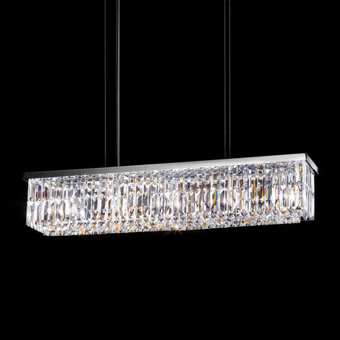 Modern Crystal Linear Ceiling Pendant