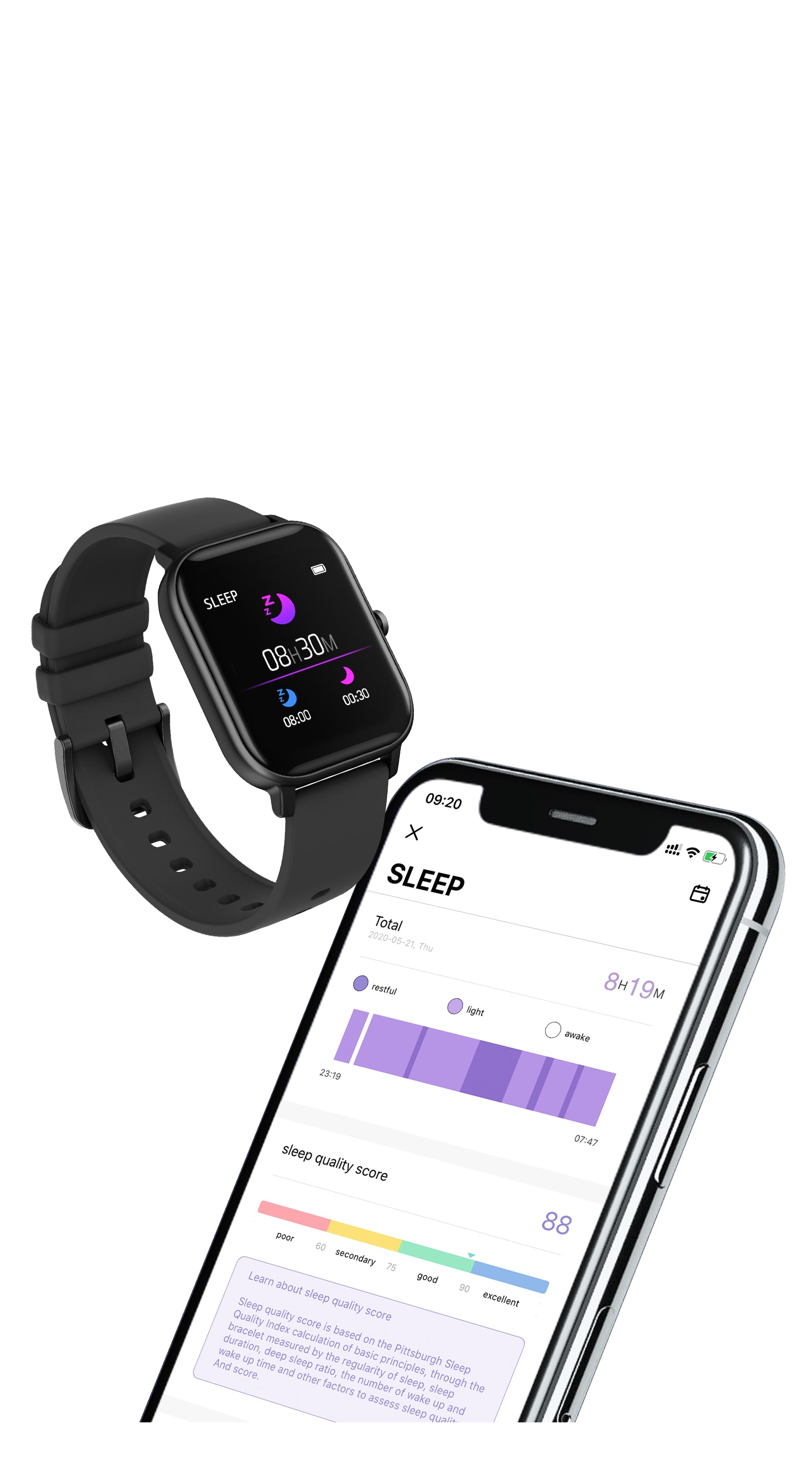 COLMI P8 Pro Smart watch Sleep Tracking - mobile