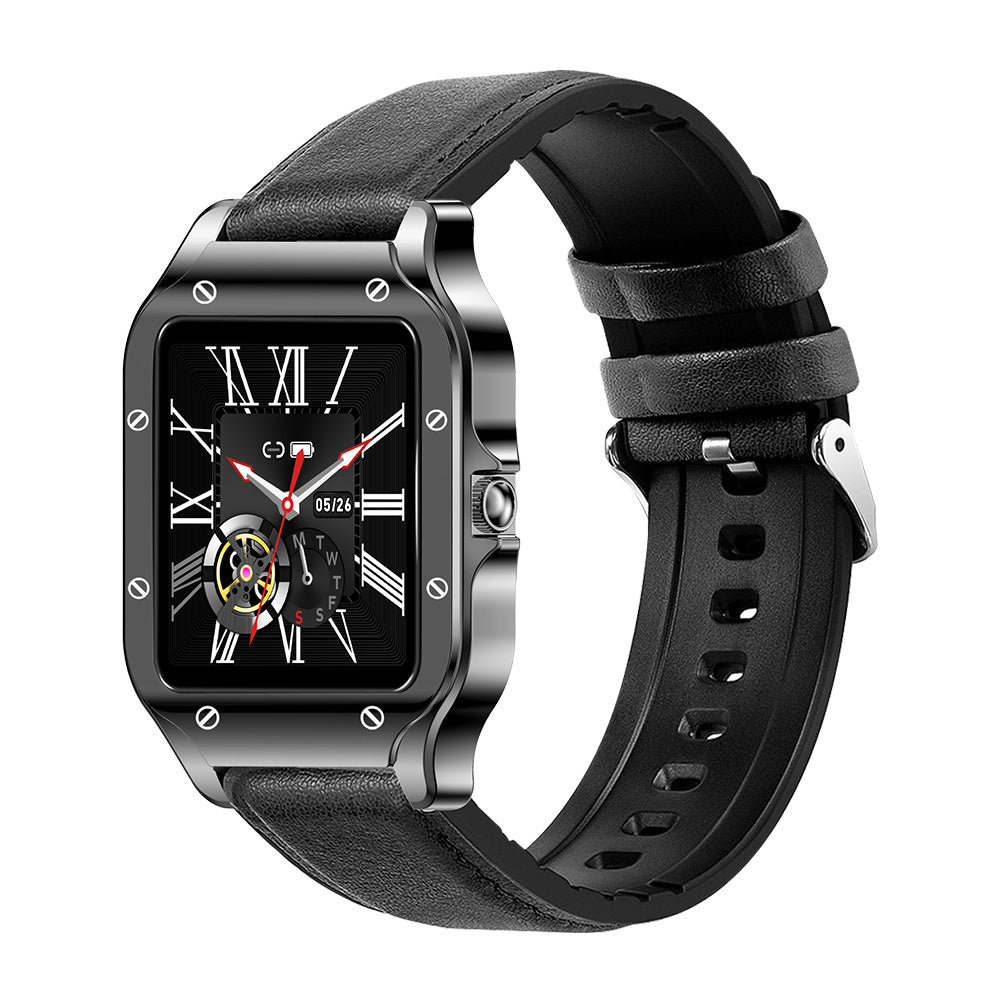 COLMI LAND 2S SMART WATCH leather Black