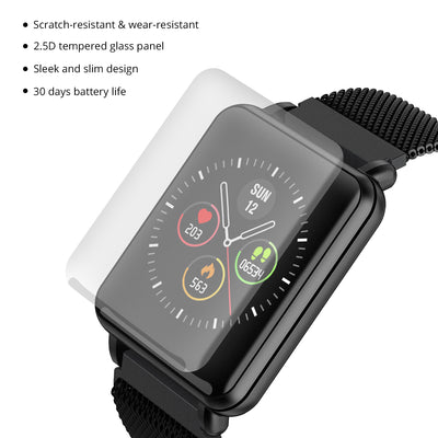 COLMI Smart Watch for Men, IP68 Waterproof Fitness Tracker Compatible with iPhone Android, Bluetooth Pedometer, Heart Rate and Blood Pressure Monitor