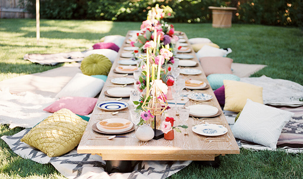 Relaxed boho garden baby shower