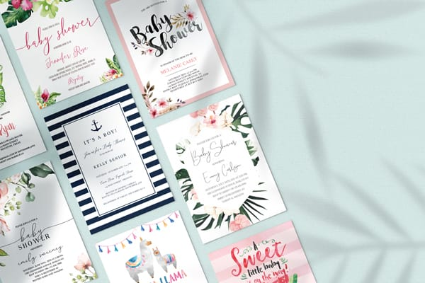 tropical baby shower invitation templates