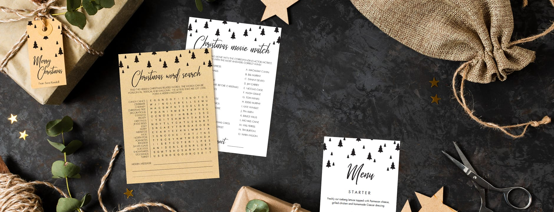 Christmas Party Games and Decorations to print at home