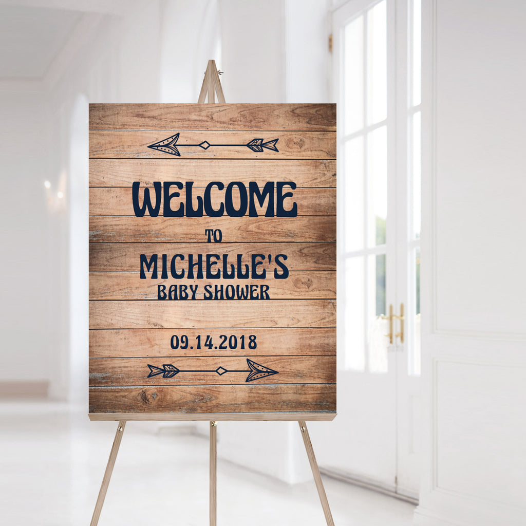 Printable welcome sign for woods baby shower by LittleSizzle