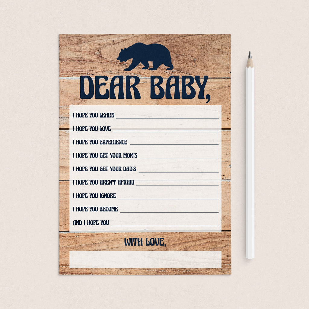 Boy baby shower wish cards by LittleSizzle