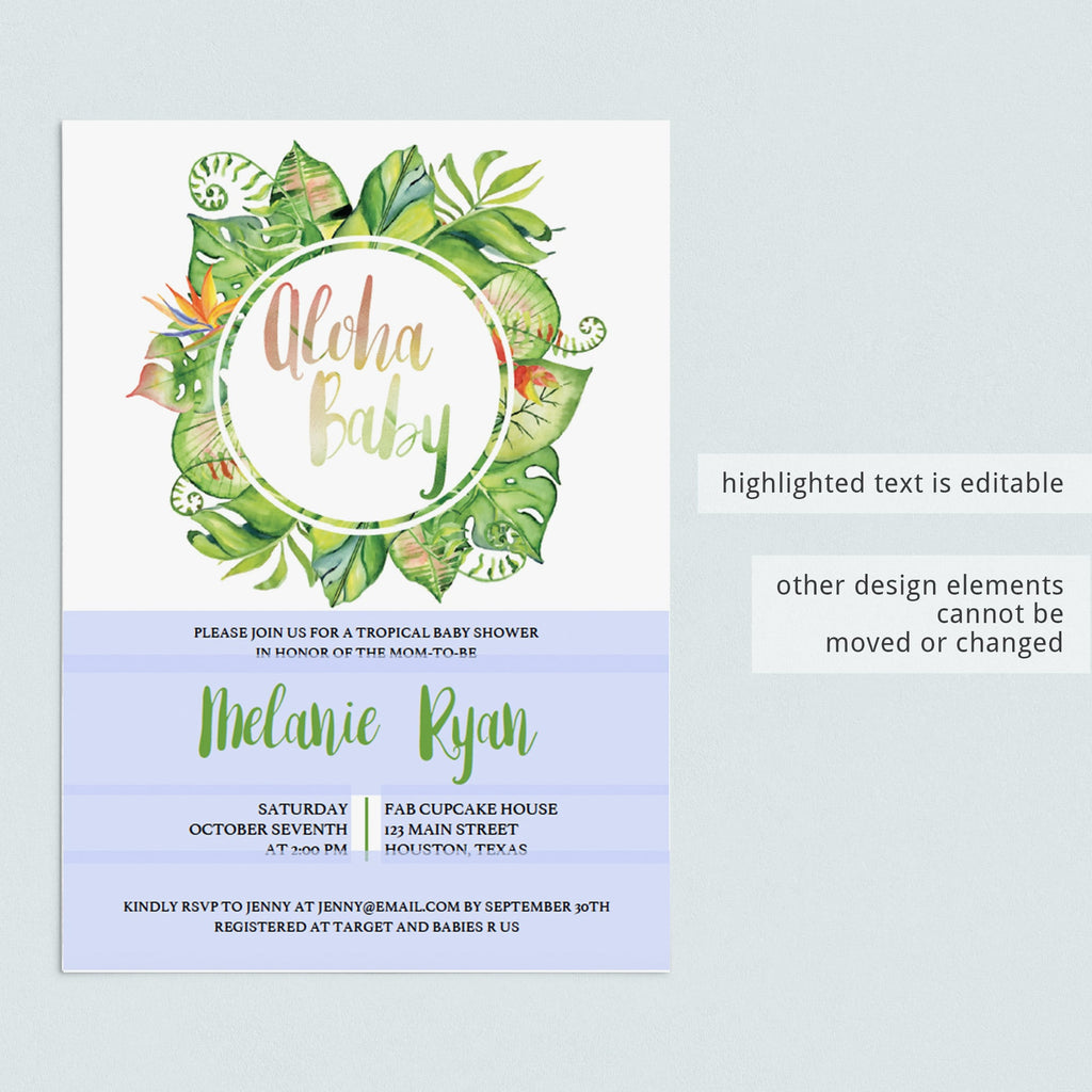 Editable Gender Neutral Baby Shower Invitation by LittleSizzle