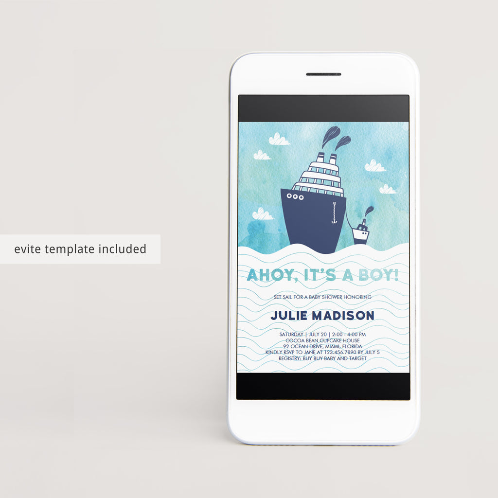 Customizable nautical baby shower party invitations by LittleSizzle