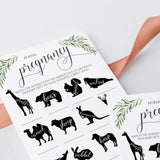 Animal Pregnancy Game Gender Neutral Baby Shower