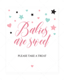Babies are sweet favors sign pink by LittleSizzle