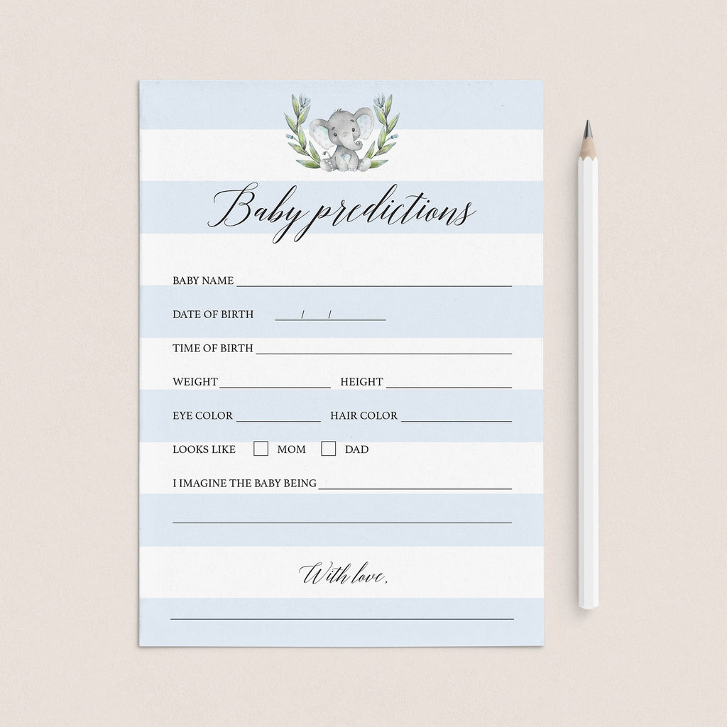 Printable Baby Boy Prediction Card by LittleSizzle