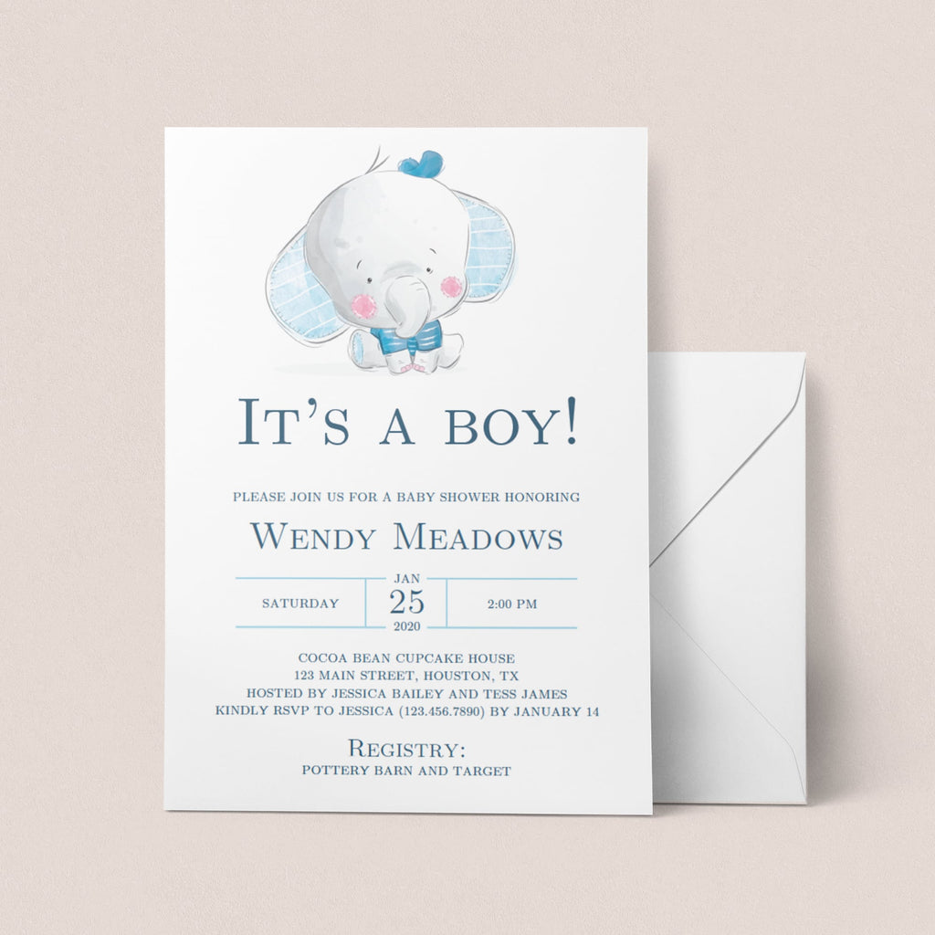 Printable baby shower invitations for boys by LittleSizzle