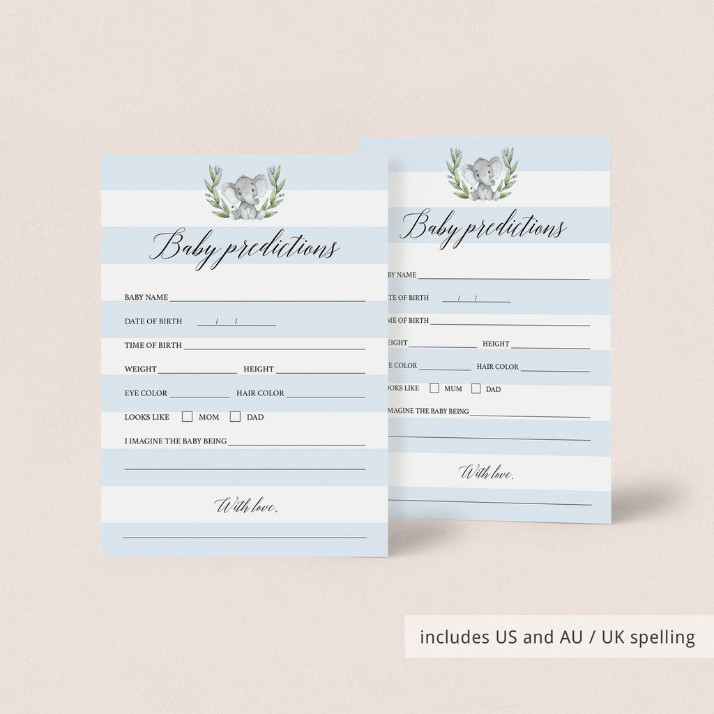 Baby Elephant Shower games printable by LittleSizzle