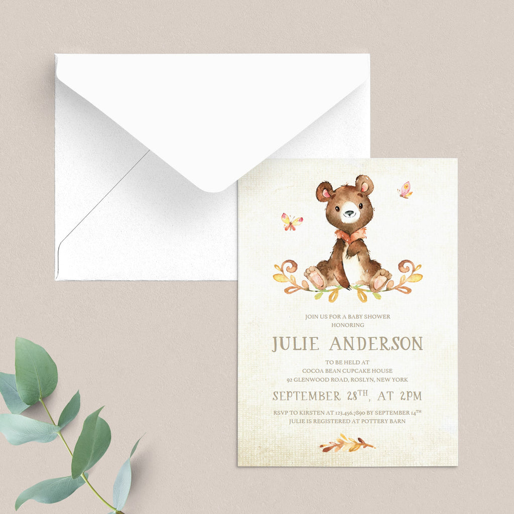 DIY baby shower invitations neutral theme by LittleSizzle