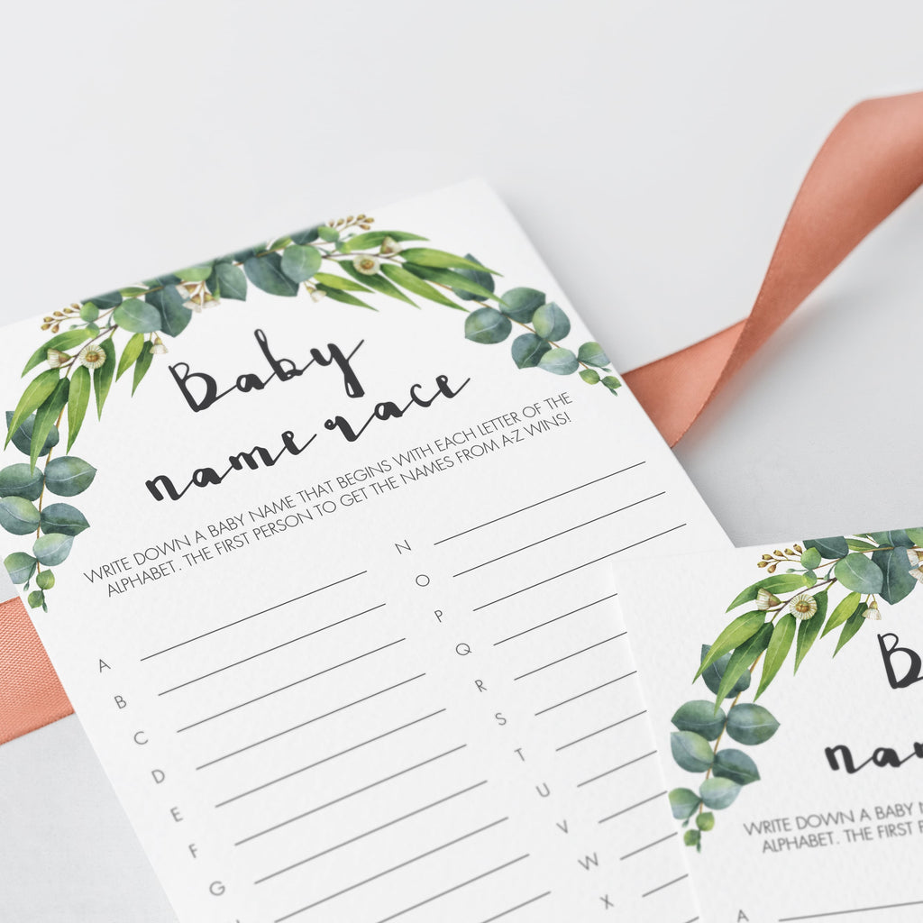 Modern Chic Baby Shower Games Bundle Printable