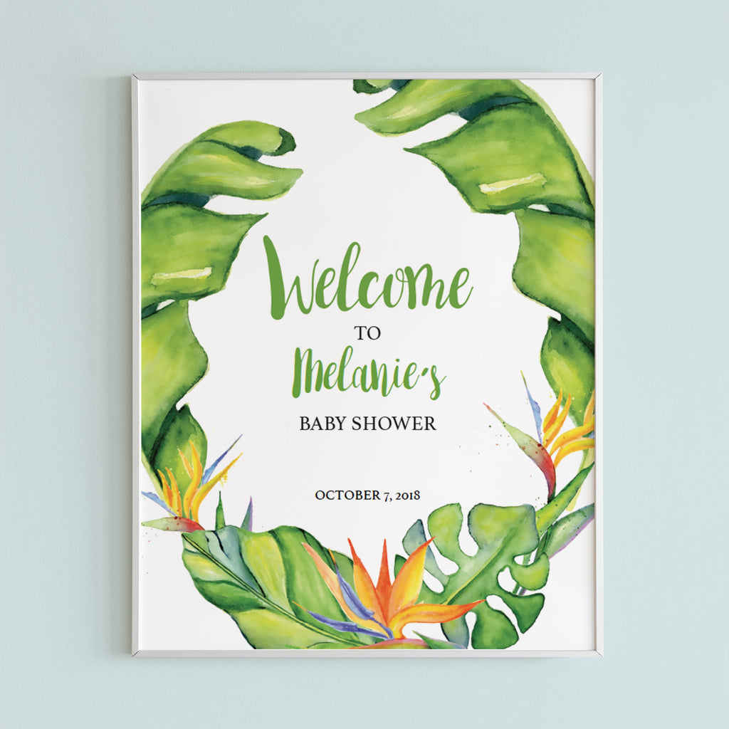 Printable welcome sign for hawaiian shower by LittleSizzle