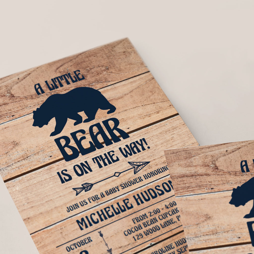 Mama Bear baby shower invitation template by LittleSizzle