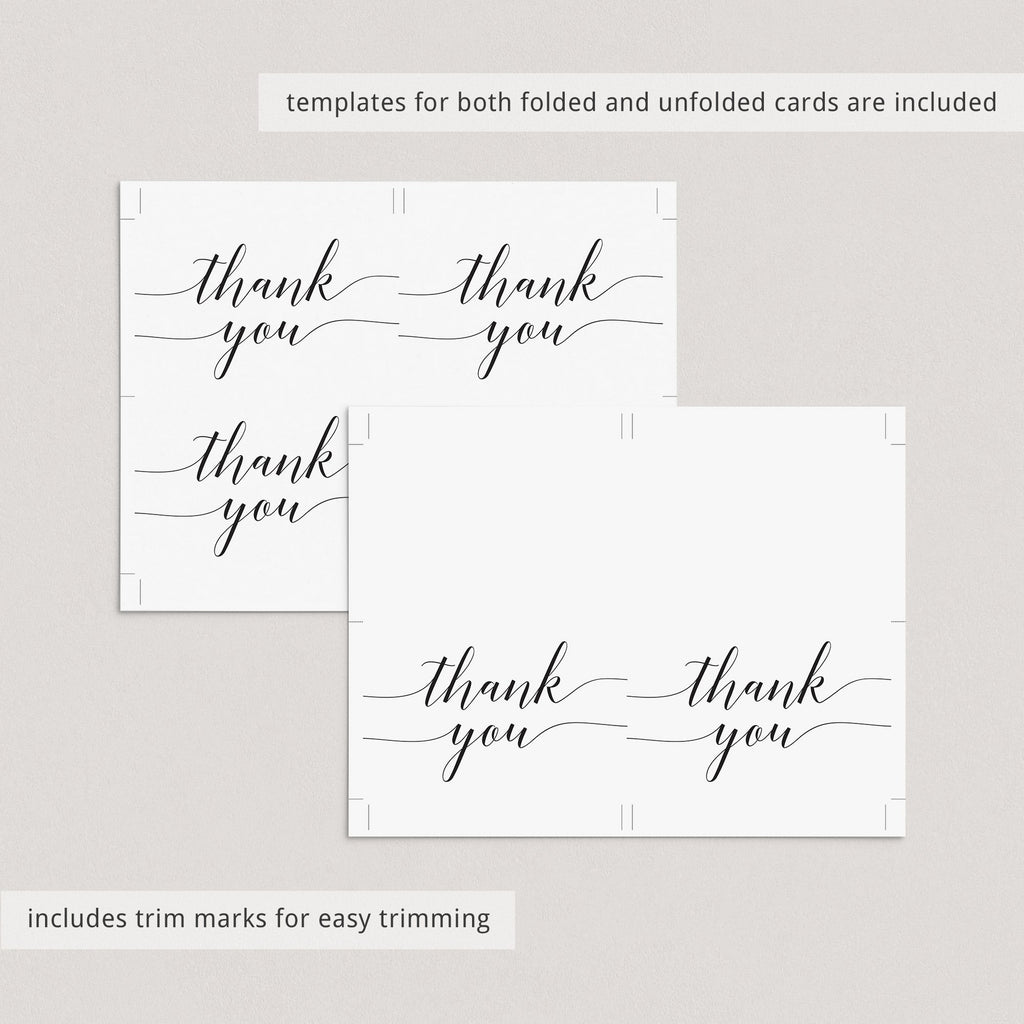 DIY thank you cards printable by LittleSizzle