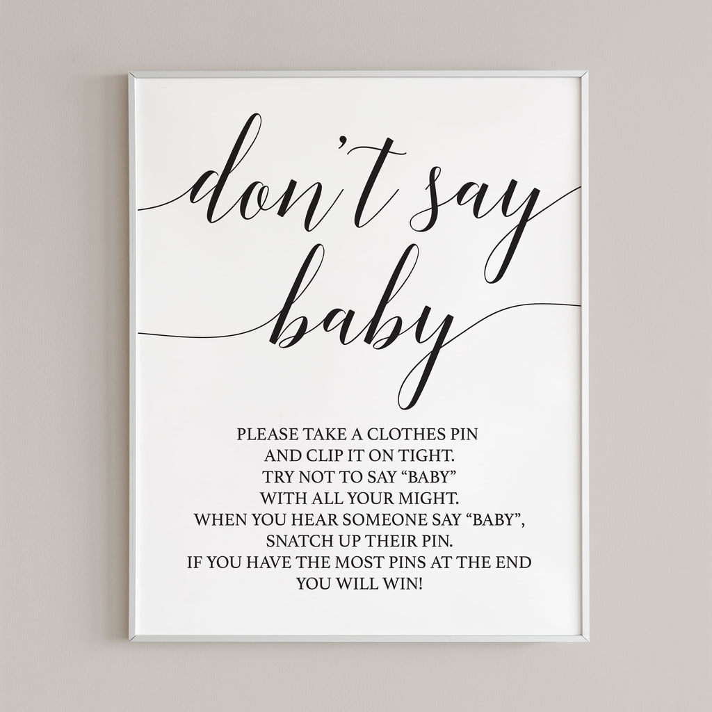Black and white baby shower signs by LittleSizzle