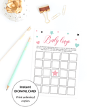 Printable baby bingo game for girl shower by LittleSizzle