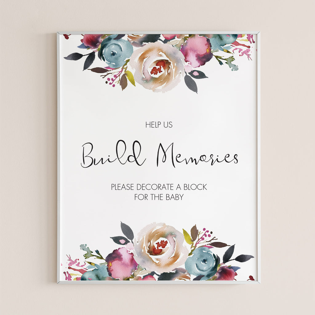 Build memories baby shower game decorate a block by LittleSizzle