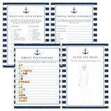 blue and white bachelorette party games bundle by LittleSizzle