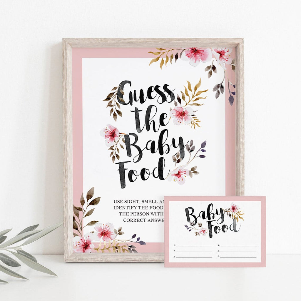 Guess the baby food for girl baby shower party by LittleSizzle