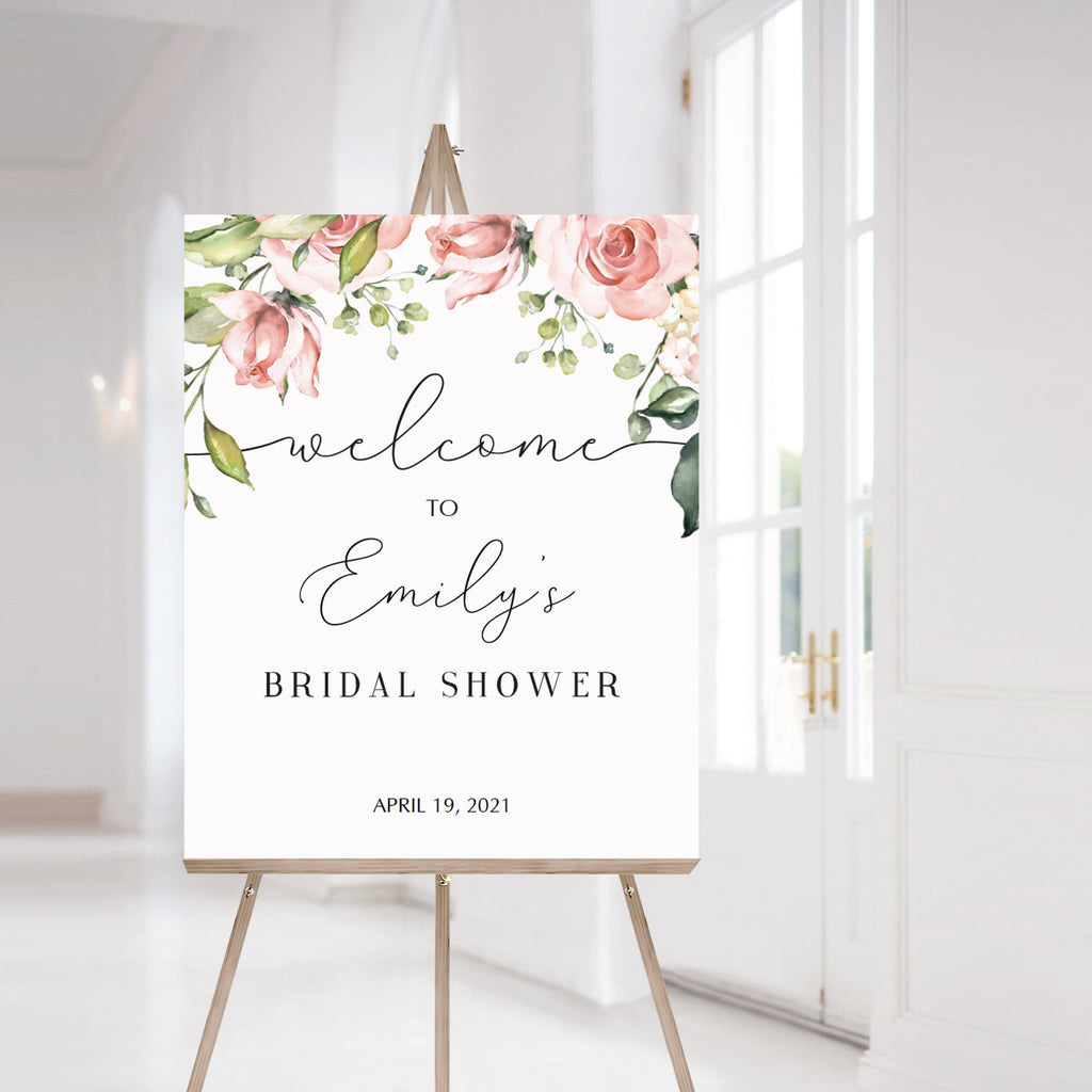 editable welcome poster for bridalshower decorations