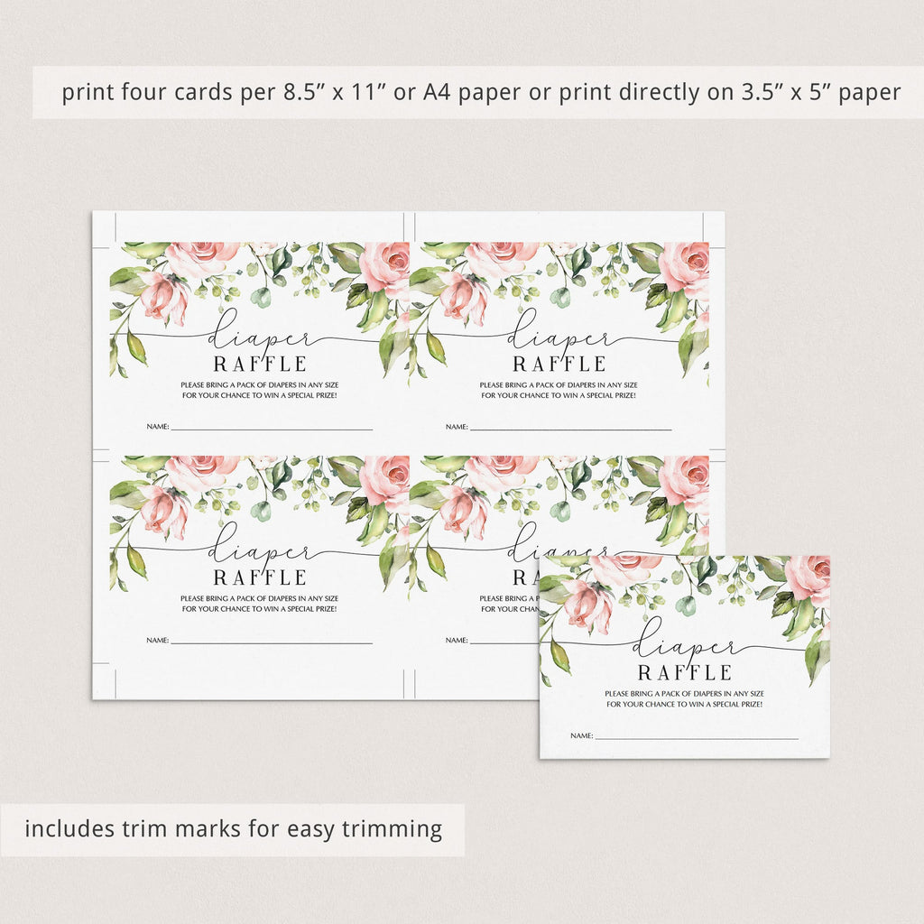Blush Floral Baby Party Invitation and Cards DIY