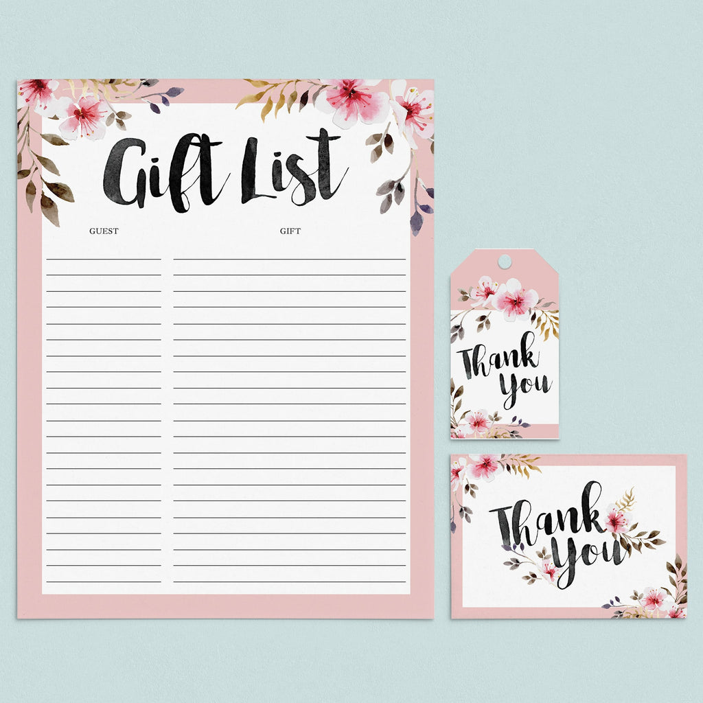 Girl Party Supplies Pack Printable