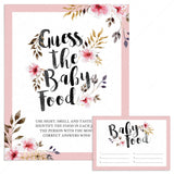 Guess the baby food game for girl baby shower by LittleSizzle