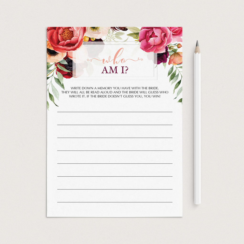 printable who am i bridal shower game ideas