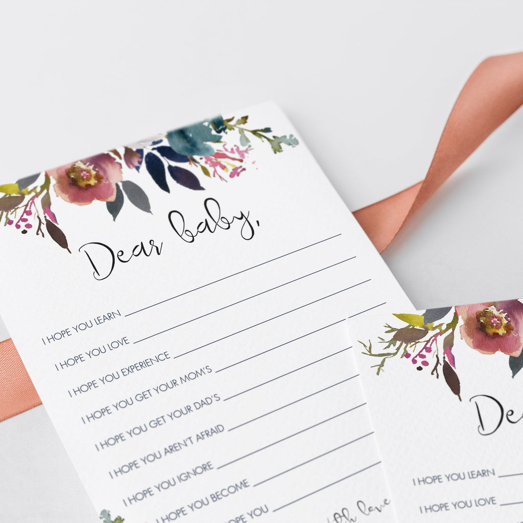 Watercolor flowers baby shower games printable by LittleSizzle