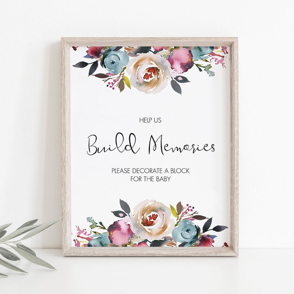 Boho theme baby shower games DIY decorate a block for baby by LittleSizzle