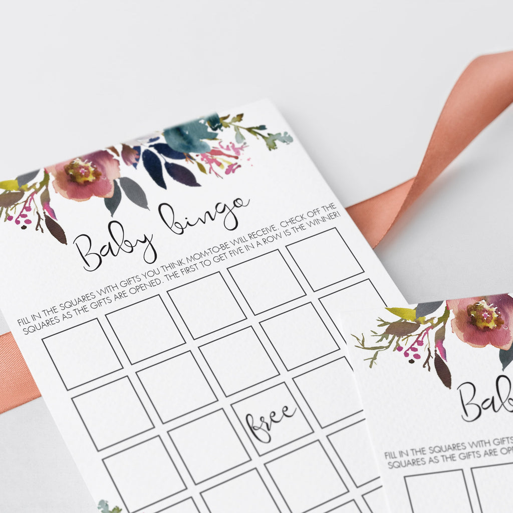 Boho flower baby shower game printable by LittleSizzle