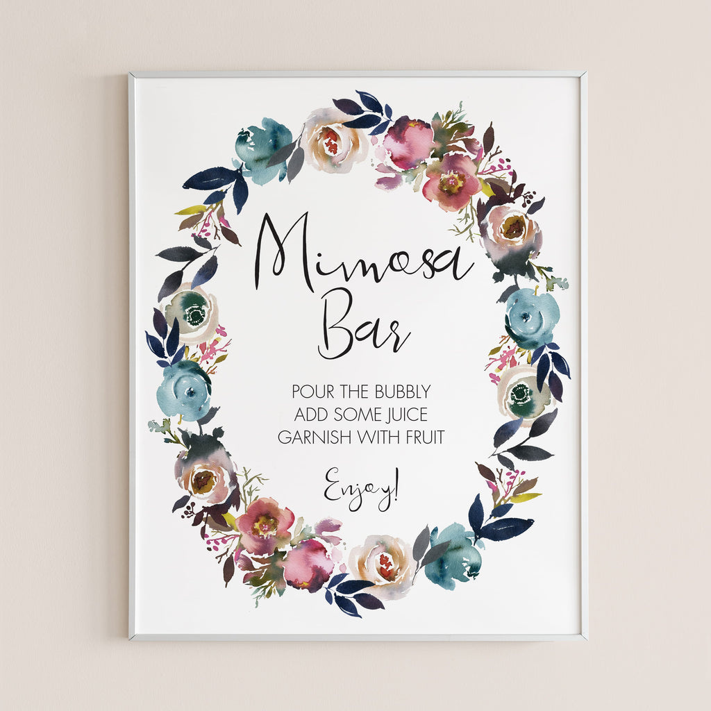 Boho shower decorations mimosa sign by LittleSizzle
