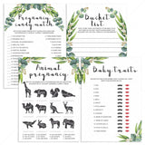 Green Baby Shower Games Bundle Printable by LittleSizzle