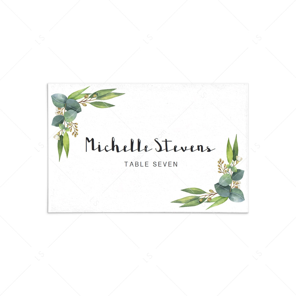 botanical wedding place cards template download by LittleSizzle