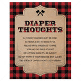 Rustic baby shower activity diaper thoughts by LittleSizzle