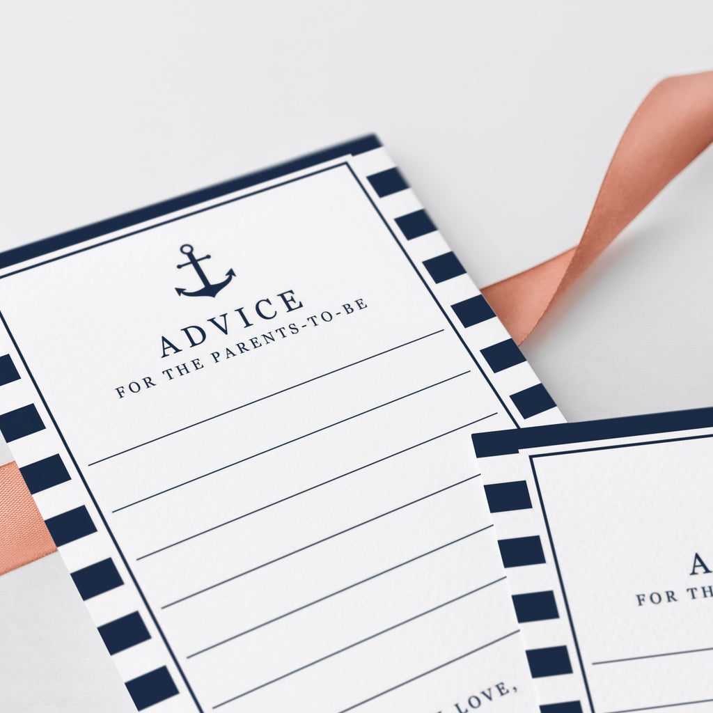Nautical themed baby advice for new parents printable by LittleSizzle