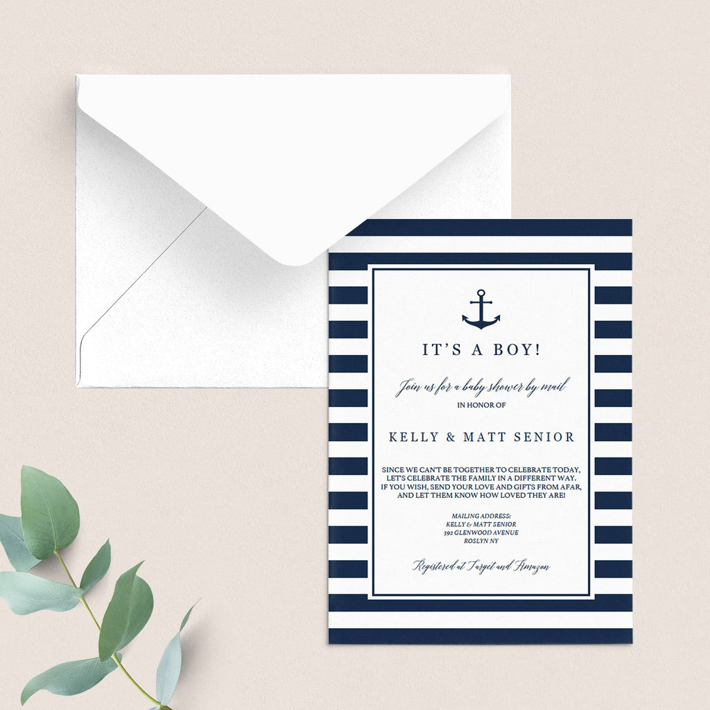 Baby shower by mail invitation for boy by LittleSizzle
